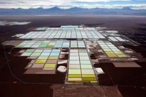 Extração de lítio no Chile