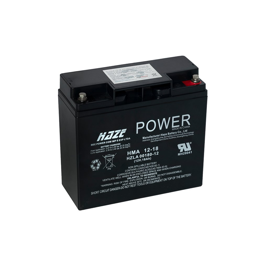 Bateria de Chumbo Ácida AGM VRLA – Haze Battery – HMA 12-18