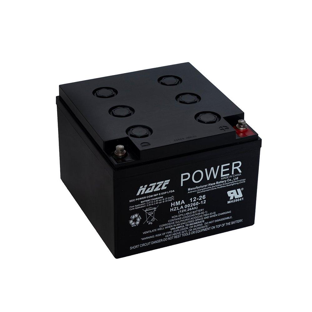 Bateria Chumbo Ácida AGM VRLA – Haze Battery – HMA 12-26