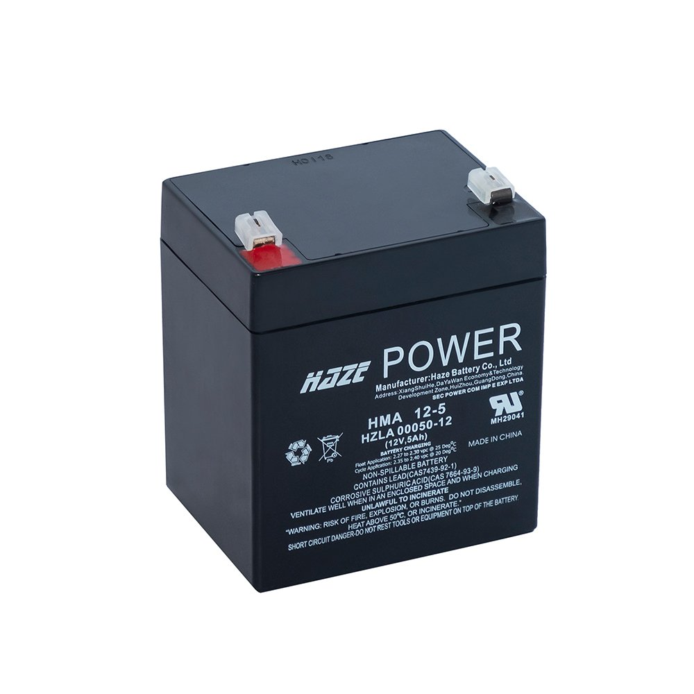 Bateria de Chumbo Ácida AGM VRLA – Haze Battery – HMA 12-5