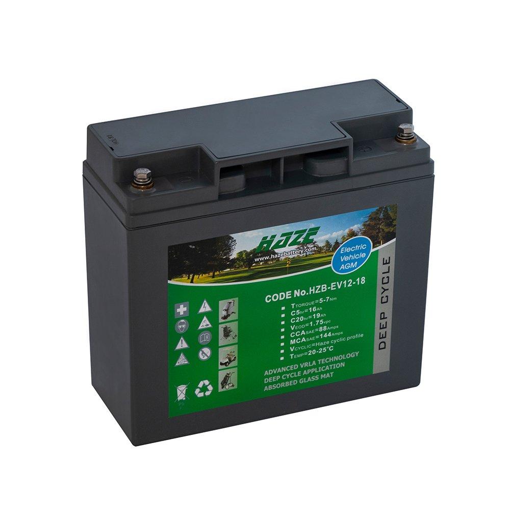 Bateria Chumbo Ácida AGM VRLA – Haze Battery – HZB – EV12-18