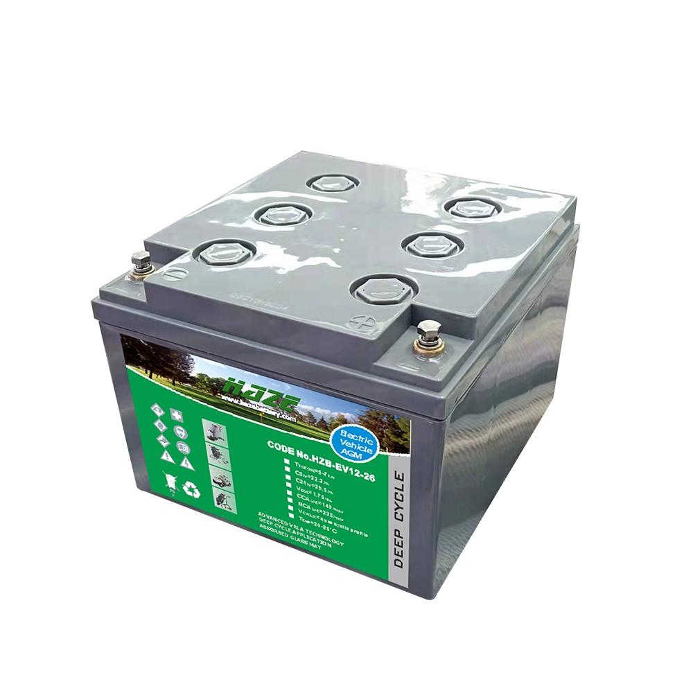 Bateria de Chumbo Ácida AGM VRLA – Haze Battery – HZB – EV12-26