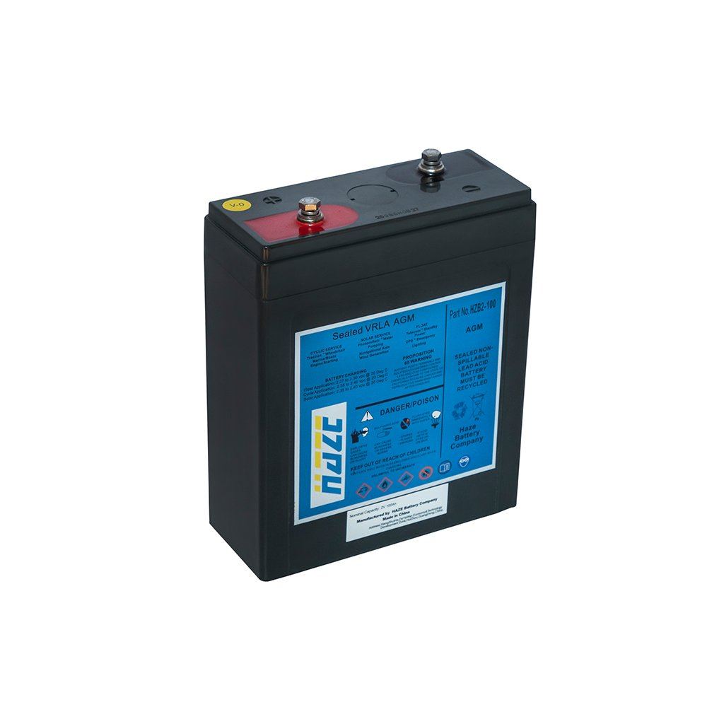 Bateria Chumbo Ácida AGM VRLA – Haze Battery – HZB 2-100