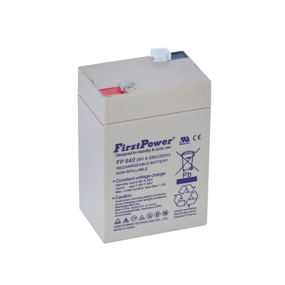 Bateria Chumbo Ácida AGM VRLA – First Power – FP 6-40